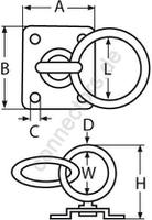 Swivel ring plate