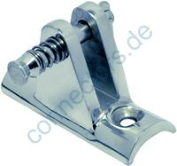 Deck hinge with concave base 90° with removable pin